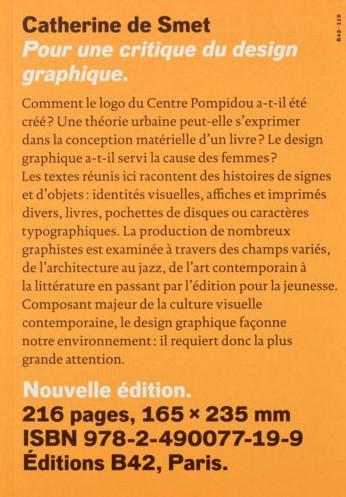 Catherine De Smet, Pour une critique du design graphique