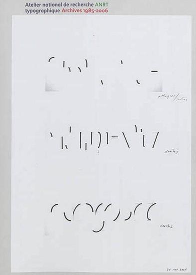 ANRT, Atelier national de recherche typographique ANRT Archives 1985-2006