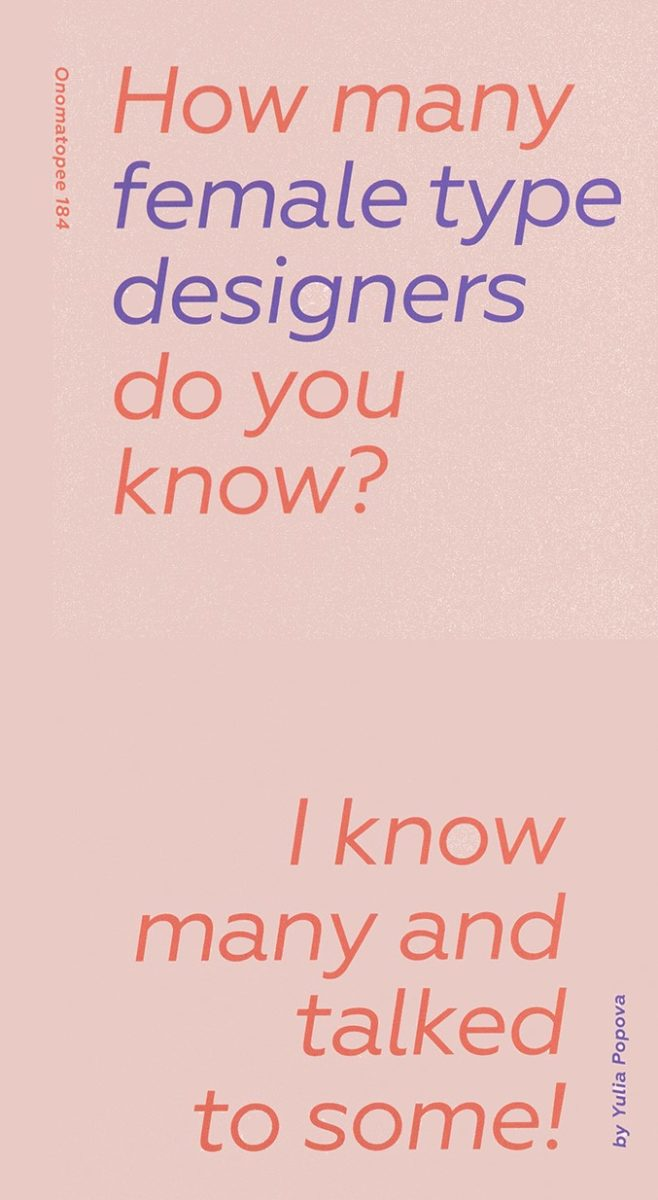 Yulia Popova, How many female designers do you know ?