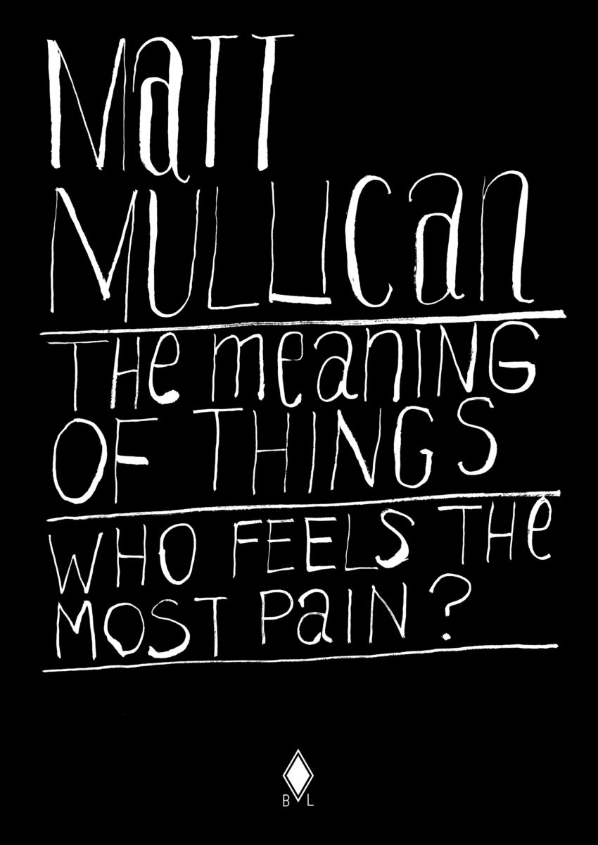 Matt Mullican, The meaning of things, who feels the most pain?