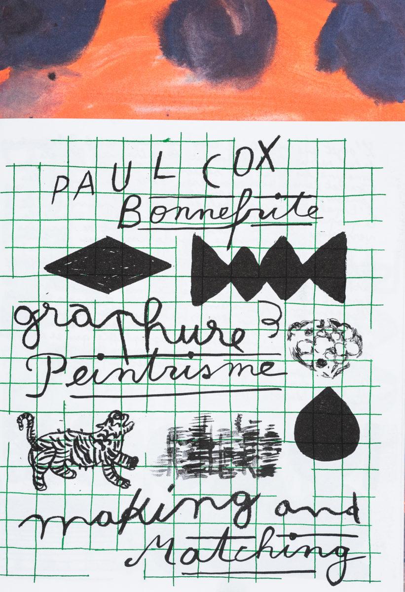, Making and Matching, Paul Cox & Bonnefrite : Graphure et Peintrisme n°3