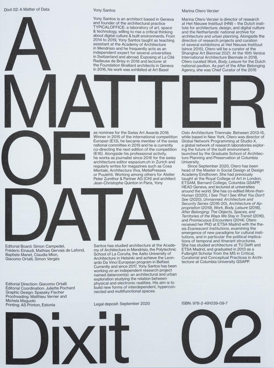 , Dixit #02. A Matter of Data