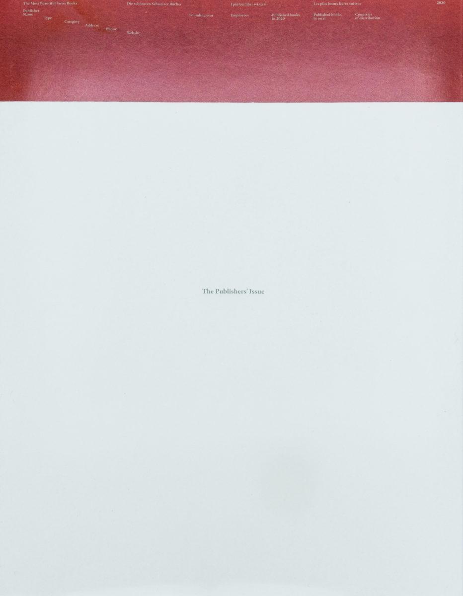 Bundesamt Fur Kultur Bern, The Most Beautiful Swiss Books 2020